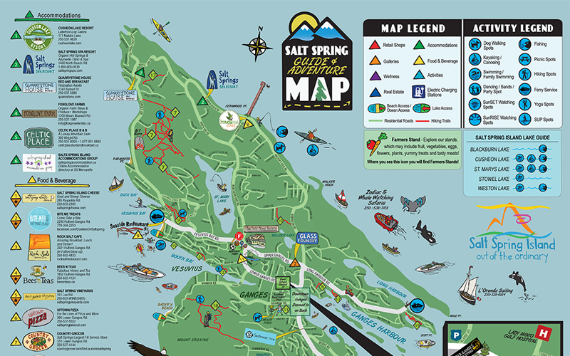 Salt Spring Adventure Map - Salt Spring Island Tourism on