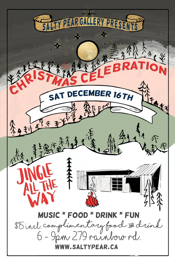 salty christmas party flyer 3 salt spring island tourism