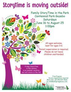 Market Storytime @ Centennial Park Gazebo      
