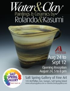 Water & Clay- Paintings and ceramics by Rolando and Kasumi @ Salt Spring Gallery of Fine Art | | |