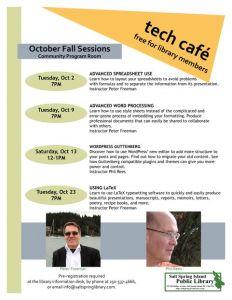 Tech Café - Using LaTeX with Peter Freeman @ Salt Spring Island Public Library | | |