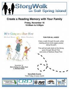 StoryWalk @ Salt Spring Island Public Library      
