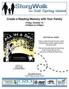 StoryWalk @ Salt Spring Island Public Library | | |