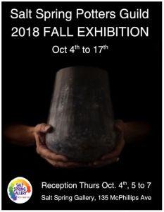 Salt Spring Potters Guild 2018 Fall Exhibition @ Salt Spring Gallery Of Fine Art | | |