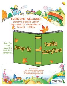 Library StoryTime @ Salt Spring Island Public Library      