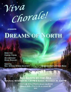 Dreams of North - Viva Chorale concert @ All Saints By The Sea Anglican Church, Ganges | | |