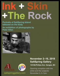 Ink + Skin + The Rock with Peter Allan @ Salt Spring Gallery of Fine Art      