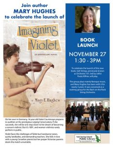 Imagining Violet by Mary Hughes | Book Launch and Salt Strings Performance @ Salt Spring Island Public Library | | |