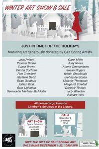 Winter Art Show & Sale @ Salt Spring Island Public Library      